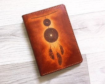 Dream Catcher Leather Passport Wallet/Passport Cover/Passport Holder/Personalized case cover/travel accessories/custom gifts for traveller