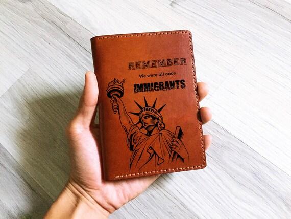 Personalisierte Flüchtling Reisepass-Cover Pass-Inhaber