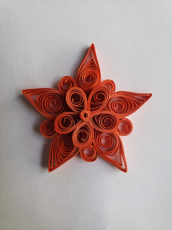 Paper Quilling Star Ornament Quilled Star Christmas Decoration