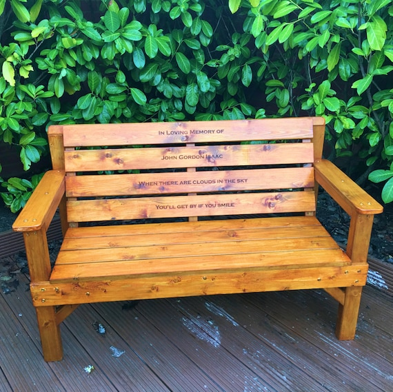 Remarkable Memorial Bench Engraved Memorial Plaques Garden Memorials Personalised Benches Grave Markers Grave Decorations Caraccident5 Cool Chair Designs And Ideas Caraccident5Info