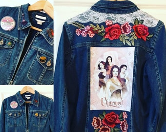 Charmed Series Ladies Designer Denim Jacket SIZE Medium