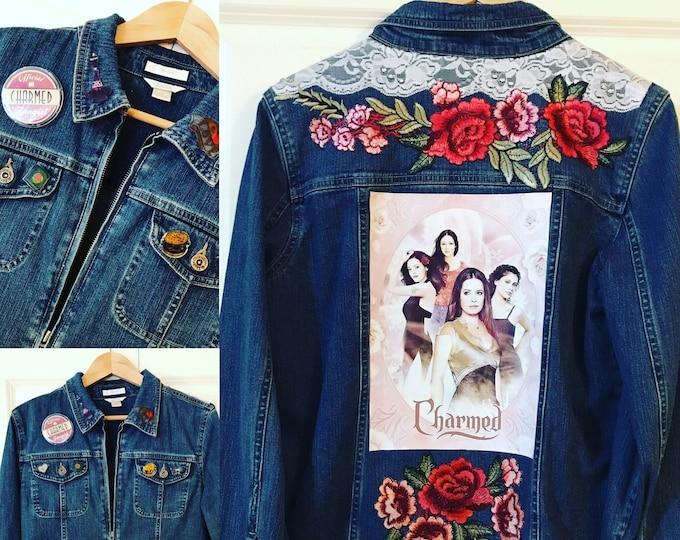 Charmed Series Ladies Designer Denim Jacket SIZE Medium