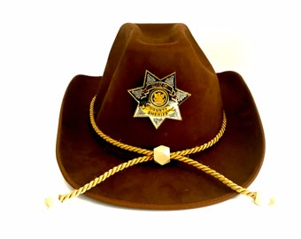 Rick Grimes Hat with badge