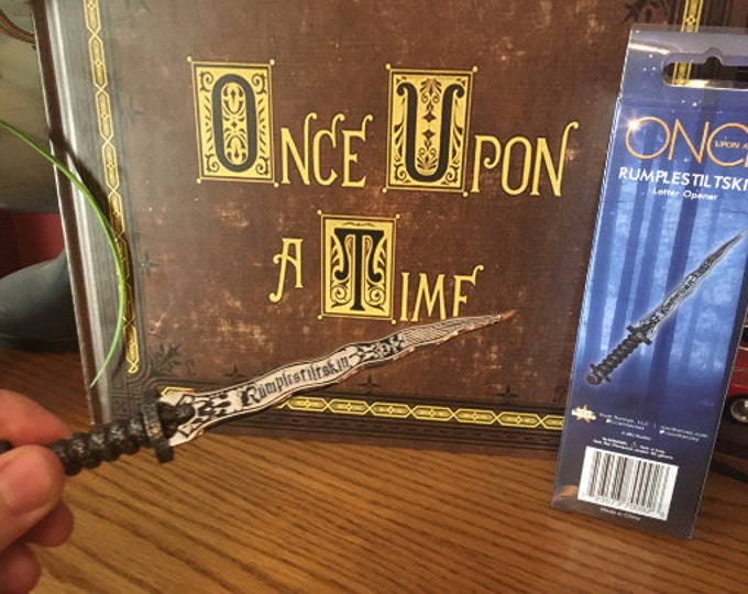 Featured listing image: Henry's Once Upon A Time Book comes with Dark One Dagger Px Letter Opener