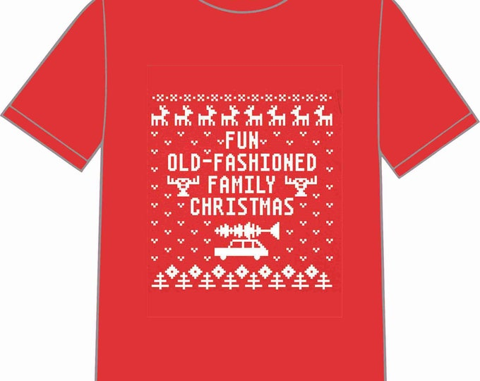 INSTANT DOWNLOAD Christmas Vacation Ugly Sweater T-shirt Transfer Instant Download & Print