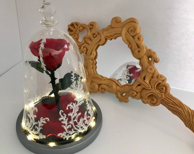 Beauty and the Beast live action Enchanted Rose replica