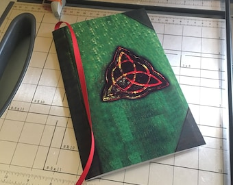 Instant Download Charmed Book of Shadows Notebook Printable on A4 Letter size paper folded in half with 36 PAGES of artwork