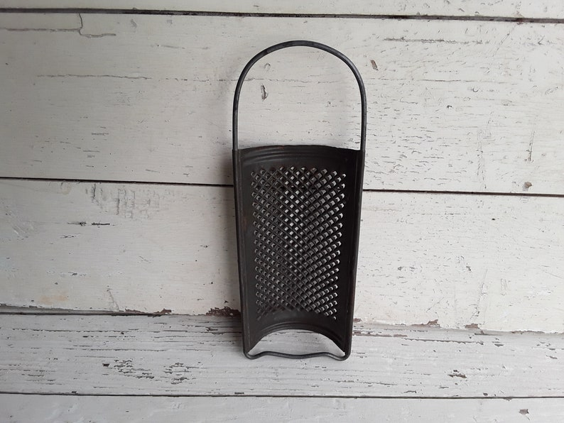 Italy Kitchen, Early Cheese Grater Half Moon Half Round Steel Primitive Handmade Kitchen Classic From Italy