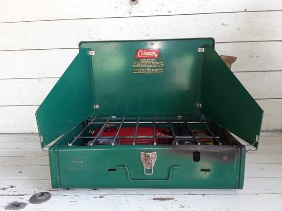 Vintage Coleman Camp Stove Mid Century Coleman 425E Folding Camping Stove  Camping Equipment
