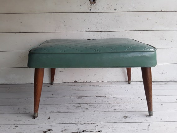 Cool Vintage Vinyl Foot Stool Mid Century Modern Footstool Mid Century Ottoman Modern Side Table Danish Modern Ottoman Vinyl Ottoman Unemploymentrelief Wooden Chair Designs For Living Room Unemploymentrelieforg
