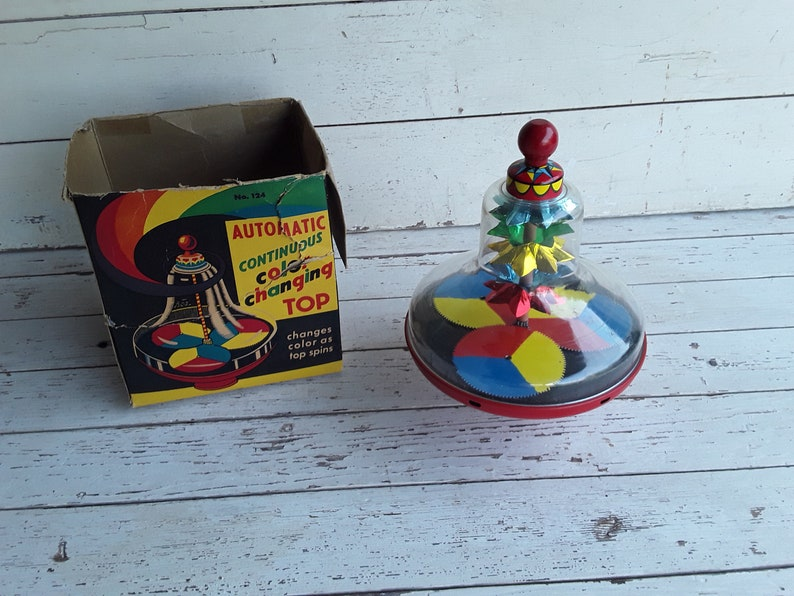 Automatic Continuous Color Changing Top Bryan Ohio Art #124 Vintage Toy W Box