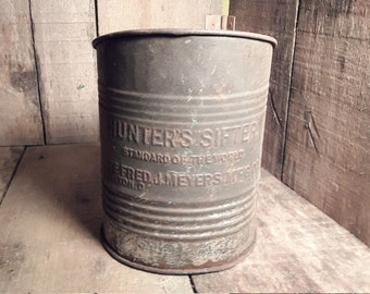 """Vintage The Fred J. Meyer Manufacturing Co. """"Hunters Flour Sifter"""""""