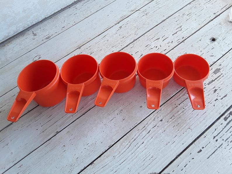 Vintage Tupperware Measuring Cups Orange Measuring Cups Set Vintage Tupperware Measuring Cups