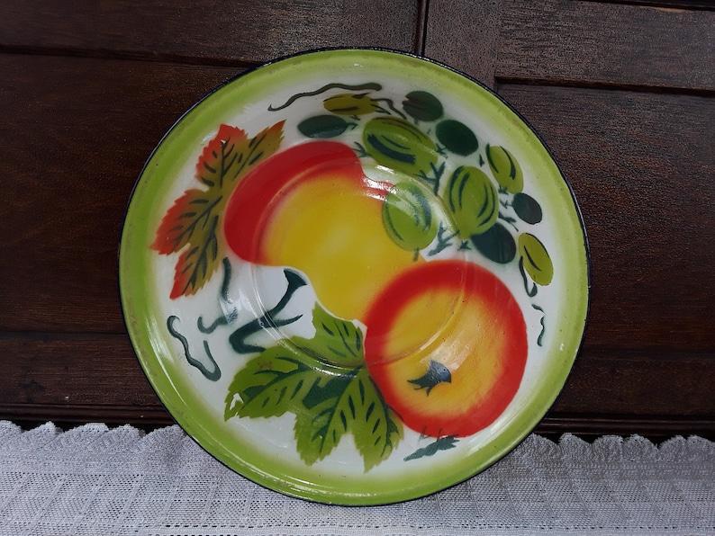 Vintage Enamel Ware Dishpan  Bowl