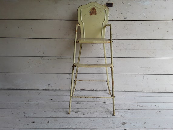 Astonishing Vintage 1950S Metal Amsco Toy Doll Highchair Childs Amsco Doll Highchair Play Kitchen Pretend Play Andrewgaddart Wooden Chair Designs For Living Room Andrewgaddartcom