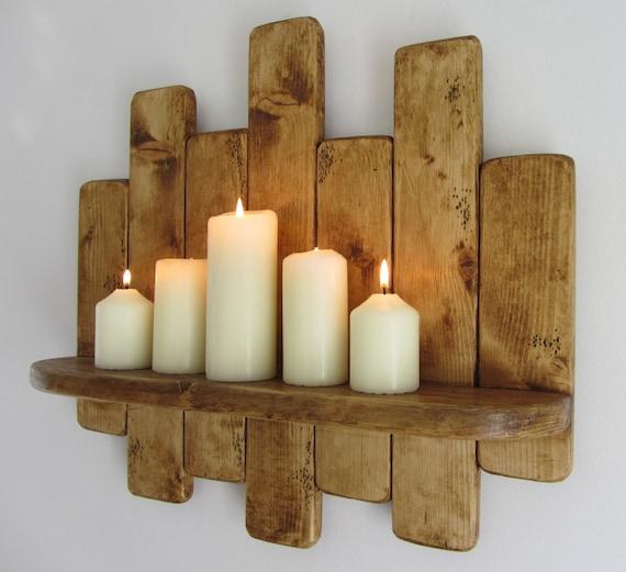 50 cm palette récupéré rustique bois flottant étagère, étagère de la ...