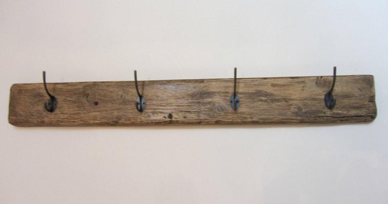 Plank 90 Cm.90 Cm Solid Reclaimed Plank Wood 4 Hook Antique Bronze Color Etsy