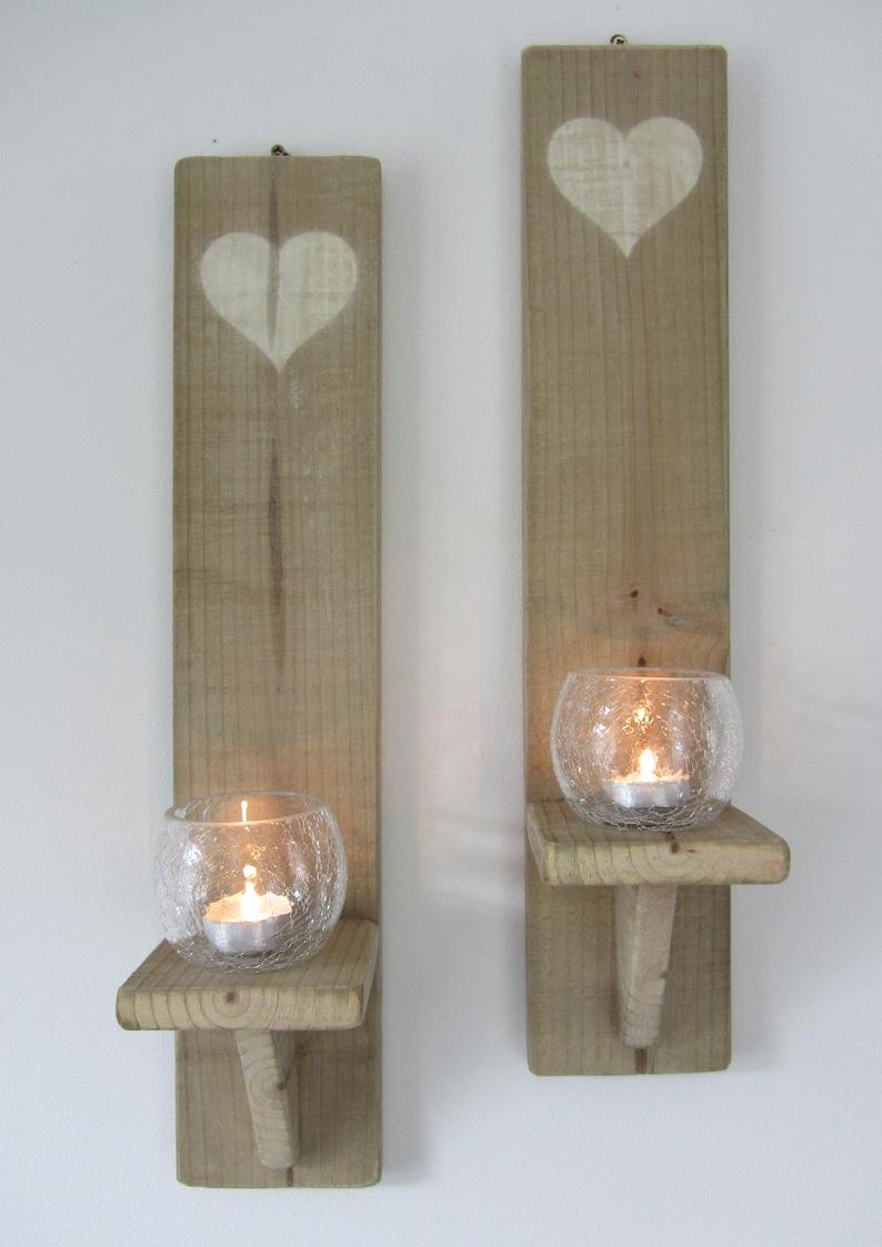 Home Furniture Diy Candle Tea Light Holders Rustic Reclaimed Pallet Wood Candle Sconce Tea Light Holder Bortexgroup Com
