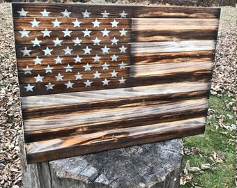 Patriotic Rustic American Flag US Dont Tread On Me Wood Wooden Decor