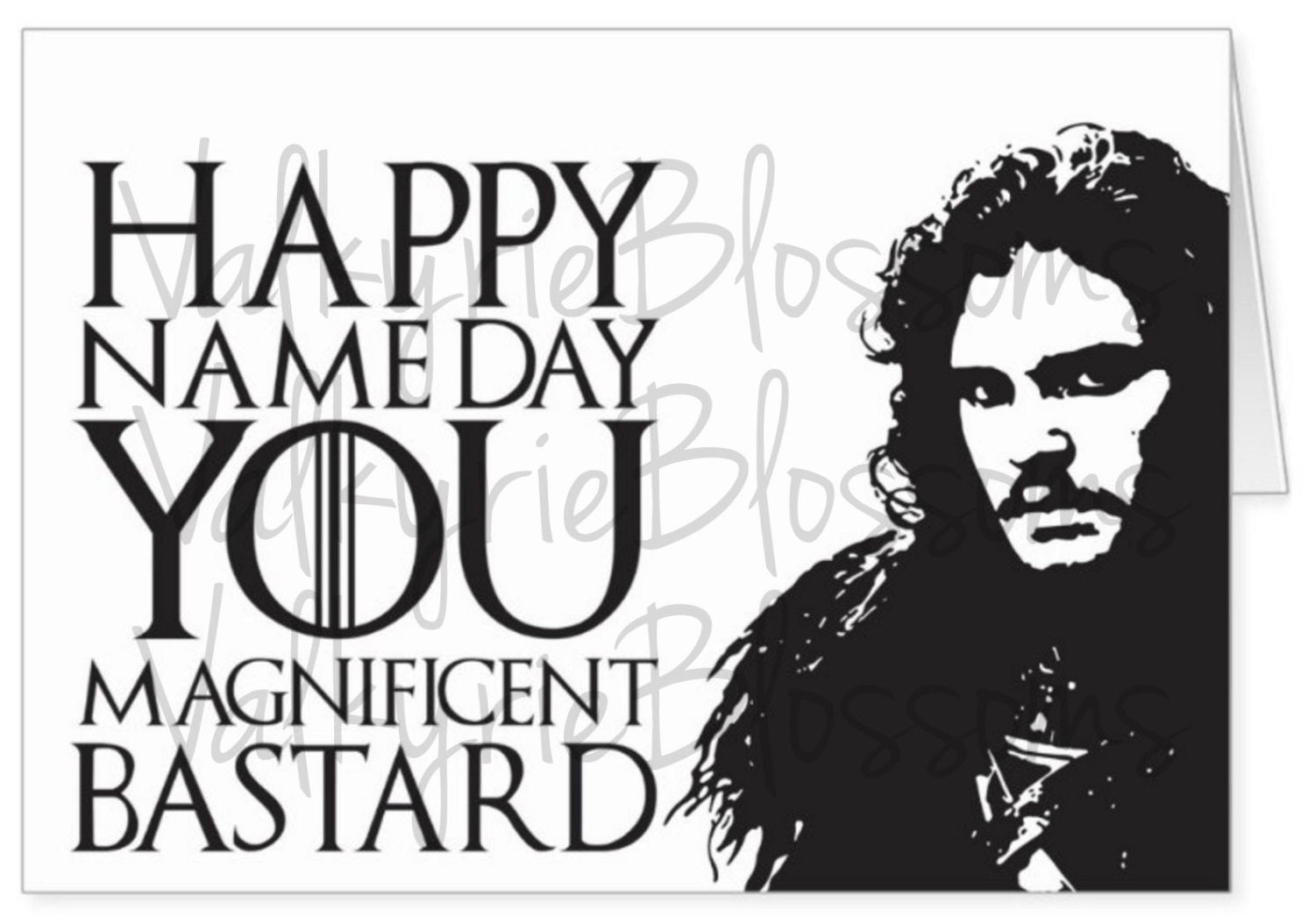 Instant Download Jon Snow Name Day Game Of Thrones Etsy