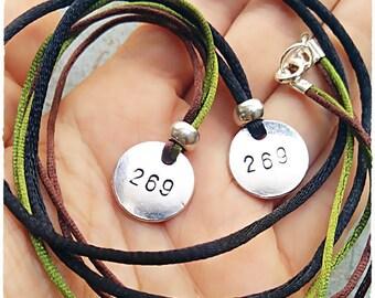 269 Life 269 Calf Awareness Vegan Necklace, 269 Vegan, Vegan for men, male Necklace, Animal Rights, Vegan gift for him, Vegan Aranzazu