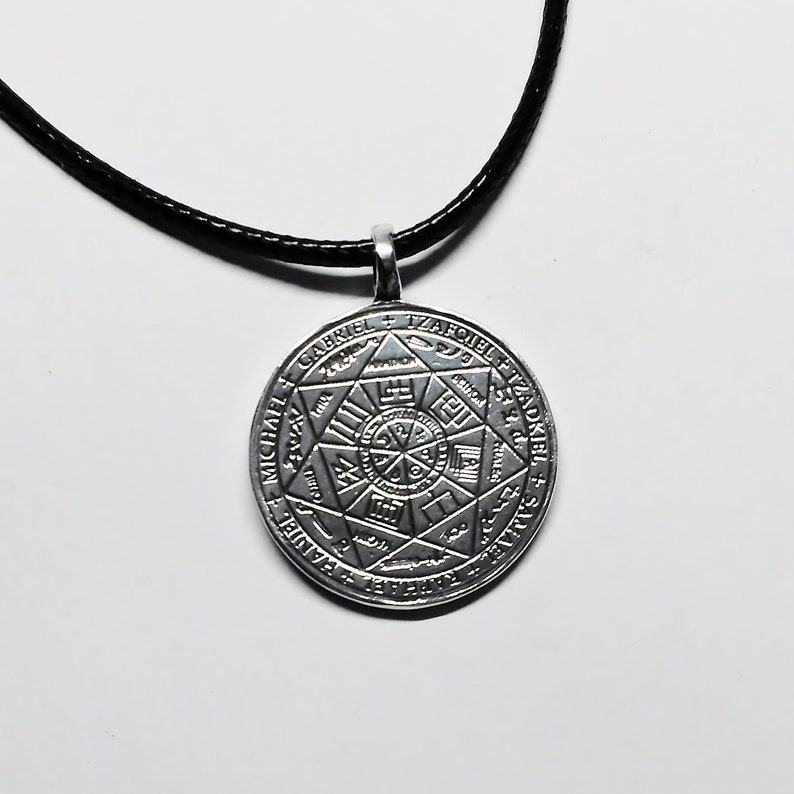 Seals of the Seven Archangels Ghent Manuscript Planetary Hierarchy Angels  Olympian Spirits Pendant Sterling Silver UK hallmarked