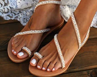 e0216b9903d675 Wedding sandals  bridal sandals  leather sandals  handmade sandals  pearl  sandals  beach wedding sandals  wedding shoes
