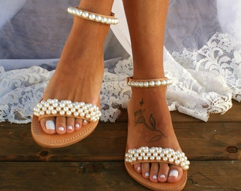 565a55c0583e7 Pearl sandals | Etsy