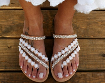 5dbad70c652927 Wedding sandals  bridal sandals  leather sandals  handmade sandals  pearl  sandals  beach wedding sandals  white wedding shoes