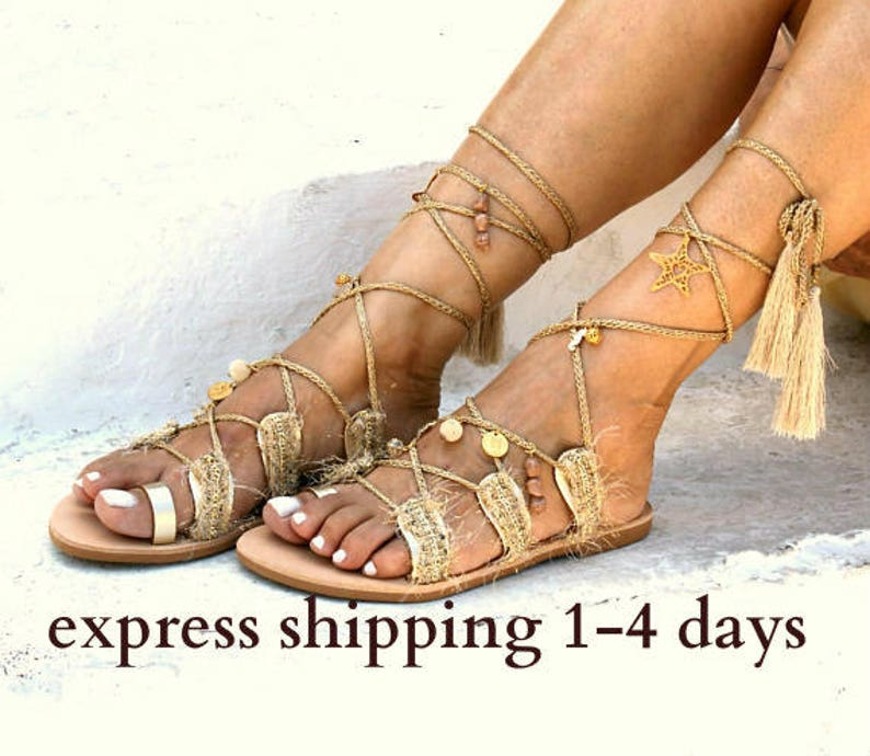 db8f6092e87d Wedding sandals  tie up gladiator sandals  boho chic sandals