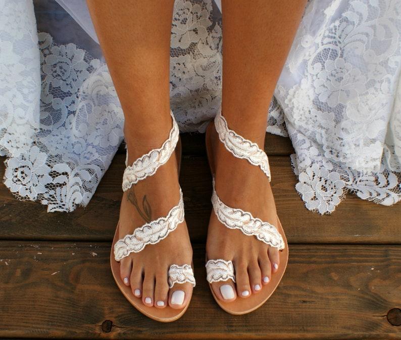 2dbf41381b8c Handmade to order  lace sandals  bridal sandals  wedding
