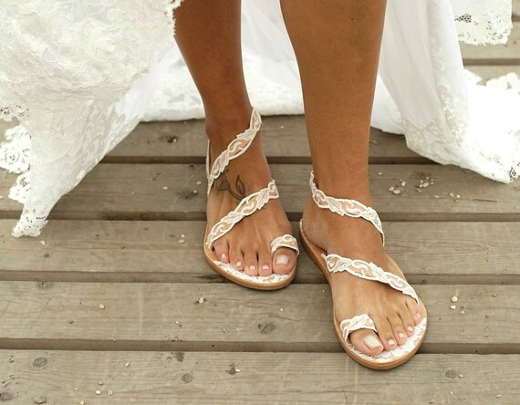 Handmade to order/ lace sandals/ bridal
