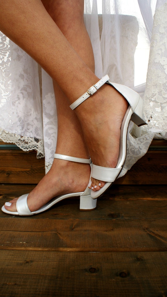 Wedding Sandals Low and high heeled Capri wedding shoes with