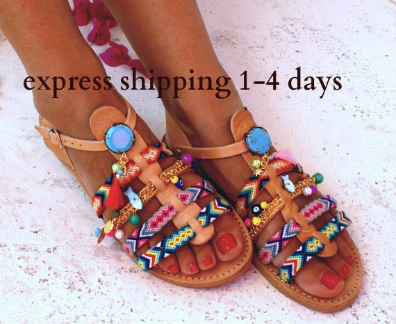 36fb008cd37ba5 Bohemian Leather Sandals  Gladiator Sandals  Spartan Sandals