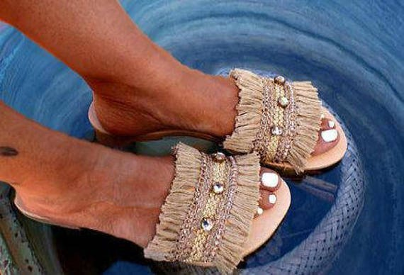 Gold de boho bord mariage sandales mariage sandales boho Chaussures de sandales glisse xZq6dWwY