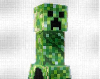 Minecraft Cross Stitch Pattern Computer Game Creeper Monster Minecraft PDF  Embroidery Chart Counted Cross Stitch Heroes Sewing Machine