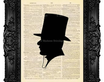 John Watson Silhouette - Dictionary Art Print Vintage Upcycled Antique Book Page no. 259