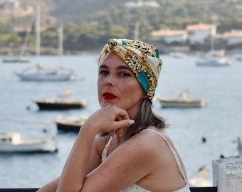 Roma fashion turban scarf for women, head bandana, boho headwrap, chemo headwear