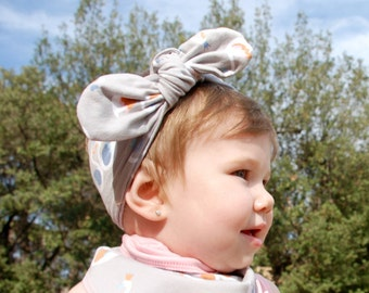Swans Top Knot Headband- Baby Turban Headband - Baby Hair Bands - Adult  headband - Coming home outfit - Baby headwrap - Mommy and Me