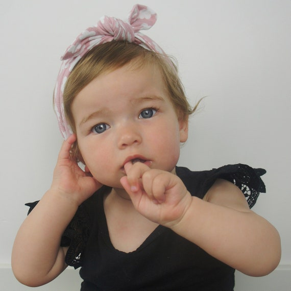 Pink headbands for babies with clouds girl hair bandana  d643e644af9