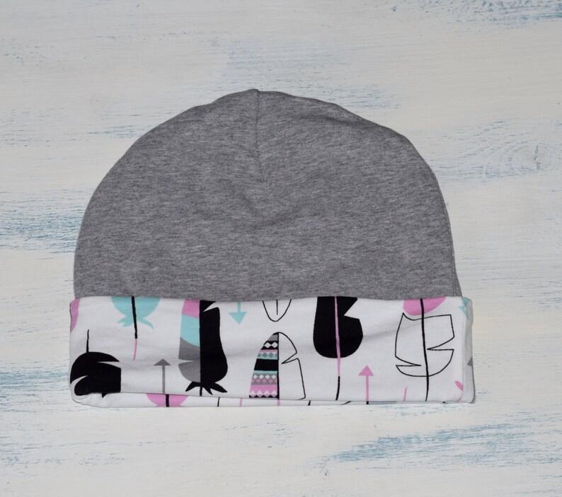 Sciarpa e cappello bambino impostata piume Beanie Slouchy e  51dcf08867a8