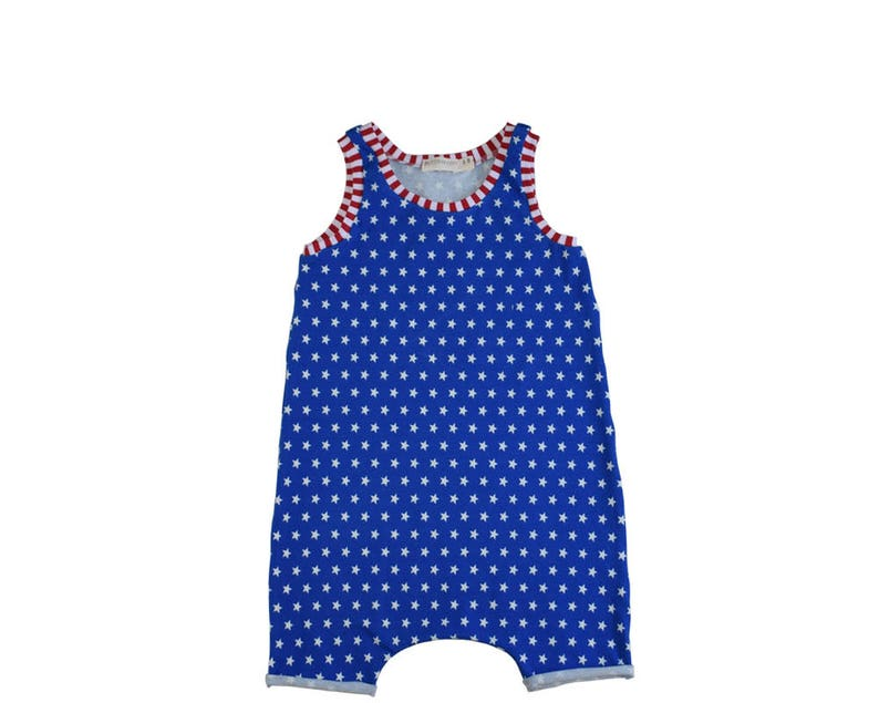 b41d4942a69 4th of July Summer Romper Baby Boy Stars and Stripes Romper