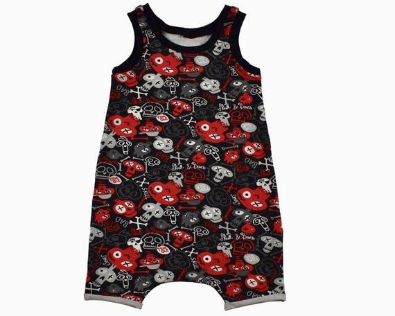 55b389d7d Baby Skulls Tank Romper Toddler Romper Hipster Baby Clothes