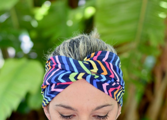 Rainbow headbands for women colorful hair bandana hair  5715d92549a