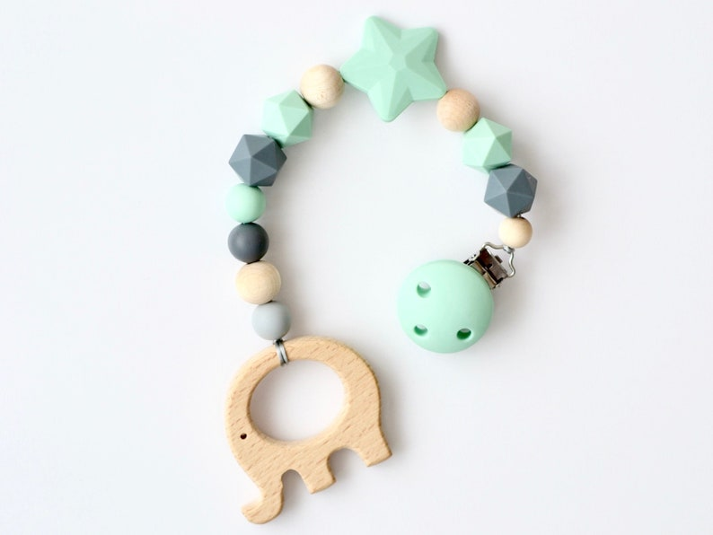 Baby Newborn Gift Pacifier Clip Elephant Dummy clip
