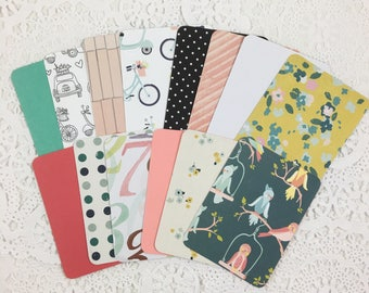 3x4 Rounded Corner Project Life Cards, Journal Cards, Scrapbook Cards, Journaling Cards, Planner Cards, Travelers Notebook Cards 115