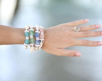 Sea GlassStackable Bracelets