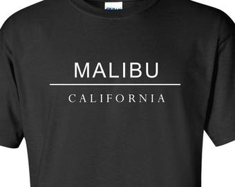 Malibu California T-Shirt Cali Beach SoCal Los Angeles Surfing Swag Shirt Short Sleeve TShirt Tee