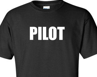 e3609eee Pilot T-Shirt Airplane Drone Tees, Shirt for Pilot, Flying Shirt, Flight  School Graduation, Aircraft Tee Shirt, Gift for Pilot Funny T Shirt