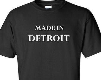 Made in Detroit Motown 313 Adult Mens Womens Black T-Shirt Short Sleeve Skulls